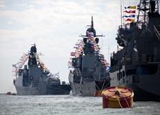 Впервые в этом году военно-морской парад пришел в Дагестан